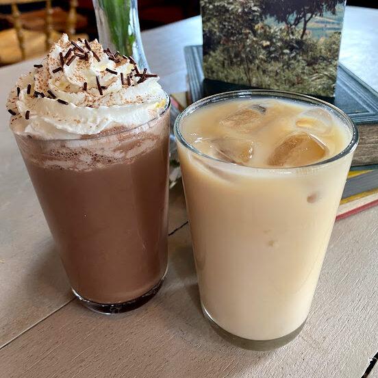 iced coffee and chocolate milkshake